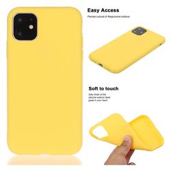 Soft Matte Silicone Phone Cover for iPhone 11 Pro Max (6.5 inch) - Yellow