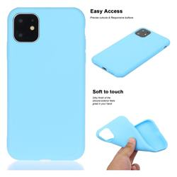 Soft Matte Silicone Phone Cover for iPhone 11 Pro Max (6.5 inch) - Sky Blue