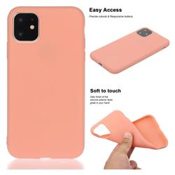 Soft Matte Silicone Phone Cover for iPhone 11 Pro Max (6.5 inch) - Coral Orange