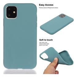 Soft Matte Silicone Phone Cover for iPhone 11 Pro Max (6.5 inch) - Lake Blue