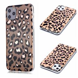 Leopard Galvanized Rose Gold Marble Phone Back Cover for iPhone 11 Pro Max (6.5 inch)