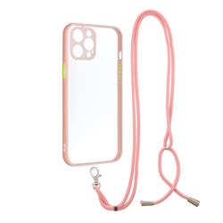 Necklace Cross-body Lanyard Strap Cord Phone Case Cover for iPhone 11 Pro Max (6.5 inch) - Pink