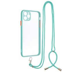 Necklace Cross-body Lanyard Strap Cord Phone Case Cover for iPhone 11 Pro Max (6.5 inch) - Blue