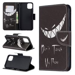 Crooked Grin Leather Wallet Case for iPhone 11 Pro Max
