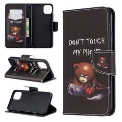 Chainsaw Bear Leather Wallet Case for iPhone 11 Pro Max