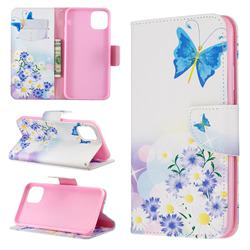 Butterflies Flowers Leather Wallet Case for iPhone 11 Pro Max