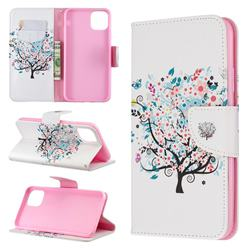 Colorful Tree Leather Wallet Case for iPhone 11 Pro Max