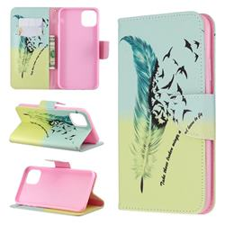 Feather Bird Leather Wallet Case for iPhone 11 Pro Max