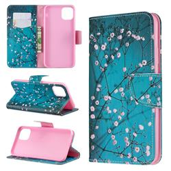 Blue Plum Leather Wallet Case for iPhone 11 Max