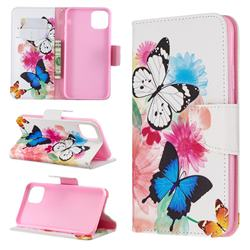 Vivid Flying Butterflies Leather Wallet Case for iPhone 11 Pro Max