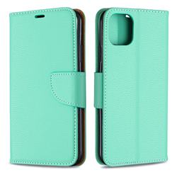 Classic Luxury Litchi Leather Phone Wallet Case for iPhone 11 Pro Max - Green