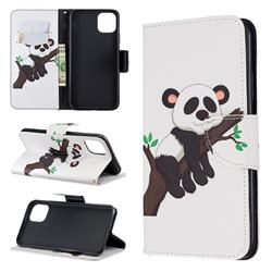 Tree Panda Leather Wallet Case for iPhone 11 Pro Max