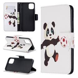Football Panda Leather Wallet Case for iPhone 11 Pro Max