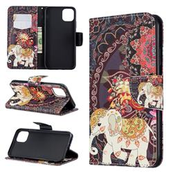 Totem Flower Elephant Leather Wallet Case for iPhone 11 Pro Max