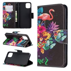 Flowers Flamingos Leather Wallet Case for iPhone 11 Pro Max