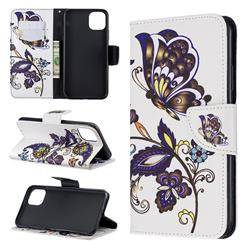 Butterflies and Flowers Leather Wallet Case for iPhone 11 Pro Max