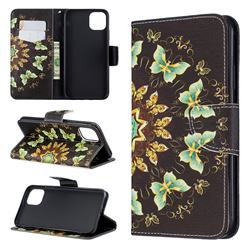 Circle Butterflies Leather Wallet Case for iPhone 11 Pro Max