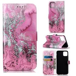 Pink Seawater PU Leather Wallet Case for iPhone 11 Pro Max (6.5 inch)