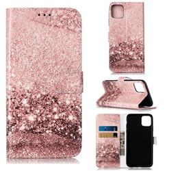Glittering Rose Gold PU Leather Wallet Case for iPhone 11 Pro Max (6.5 inch)