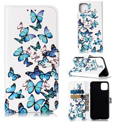 Blue Vivid Butterflies PU Leather Wallet Case for iPhone 11 Pro Max (6.5 inch)