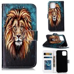 Ice Lion 3D Relief Oil PU Leather Wallet Case for iPhone 11 Pro Max (6.5 inch)