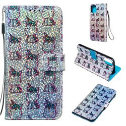 Little Unicorn Sequins Painted Leather Wallet Case for iPhone 11 Pro Max (6.5 inch)