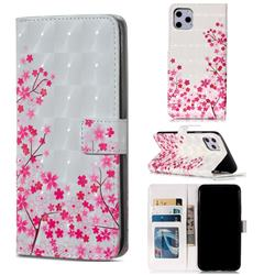 Cherry Blossom 3D Painted Leather Phone Wallet Case for iPhone 11 Pro Max (6.5 inch)