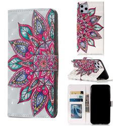 Mandara Flower 3D Painted Leather Phone Wallet Case for iPhone 11 Pro Max (6.5 inch)