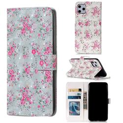 Roses Flower 3D Painted Leather Phone Wallet Case for iPhone 11 Pro Max (6.5 inch)