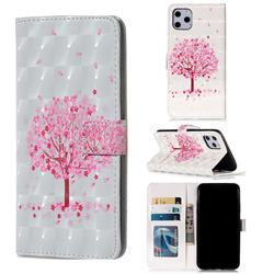 Sakura Flower Tree 3D Painted Leather Phone Wallet Case for iPhone 11 Pro Max (6.5 inch)