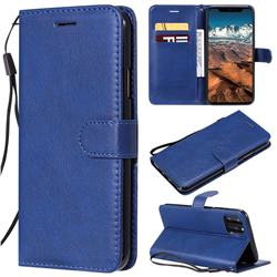 Retro Greek Classic Smooth PU Leather Wallet Phone Case for iPhone 11 Pro Max (6.5 inch) - Blue