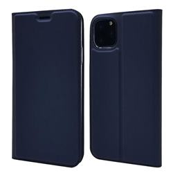 Ultra Slim Card Magnetic Automatic Suction Leather Wallet Case for iPhone 11 Pro Max (6.5 inch) - Royal Blue