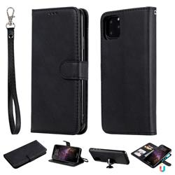 Retro Greek Detachable Magnetic PU Leather Wallet Phone Case for iPhone 11 Pro Max (6.5 inch) - Black