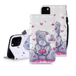 Love Panda 3D Painted Leather Wallet Phone Case for iPhone 11 Pro Max (6.5 inch)