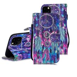 Star Wind Chimes 3D Painted Leather Wallet Phone Case for iPhone 11 Pro Max (6.5 inch)