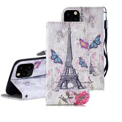 Paris Tower 3D Painted Leather Wallet Phone Case for iPhone 11 Pro Max (6.5 inch)