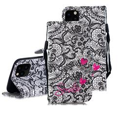 Lace Flower 3D Painted Leather Wallet Phone Case for iPhone 11 Pro Max (6.5 inch)