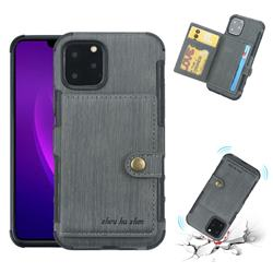 Brush Multi-function Leather Phone Case for iPhone 11 Pro Max (6.5 inch) - Gray