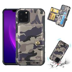 Camouflage Multi-function Leather Phone Case for iPhone 11 Pro Max (6.5 inch) - Gray