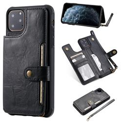 Retro Aristocratic Demeanor Anti-fall Leather Phone Back Cover for iPhone 11 Pro Max (6.5 inch) - Black