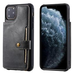 Retro Aristocratic Demeanor Anti-fall Leather Phone Back Cover for iPhone 11 Pro Max (6.5 inch) - Gray