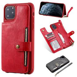 Retro Aristocratic Demeanor Anti-fall Leather Phone Back Cover for iPhone 11 Pro Max (6.5 inch) - Red