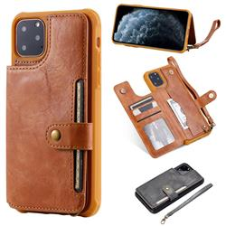 Retro Aristocratic Demeanor Anti-fall Leather Phone Back Cover for iPhone 11 Pro Max (6.5 inch) - Brown