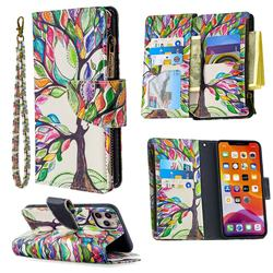 The Tree of Life Binfen Color BF03 Retro Zipper Leather Wallet Phone Case for iPhone 11 Pro Max (6.5 inch)