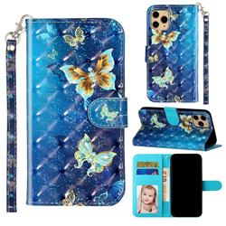 Rankine Butterfly 3D Leather Phone Holster Wallet Case for iPhone 11 Pro Max (6.5 inch)