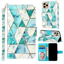 Stitching Marble 3D Leather Phone Holster Wallet Case for iPhone 11 Pro Max (6.5 inch)