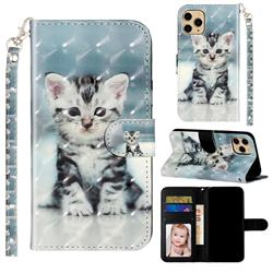 Kitten Cat 3D Leather Phone Holster Wallet Case for iPhone 11 Pro Max (6.5 inch)