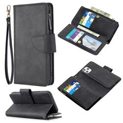 Binfen Color BF02 Sensory Buckle Zipper Multifunction Leather Phone Wallet for iPhone 11 Pro Max (6.5 inch) - Black