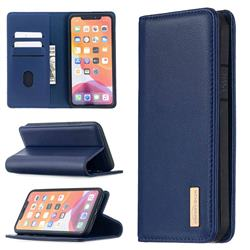 Binfen Color BF06 Luxury Classic Genuine Leather Detachable Magnet Holster Cover for iPhone 11 Pro Max (6.5 inch) - Blue