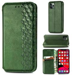 Ultra Slim Fashion Business Card Magnetic Automatic Suction Leather Flip Cover for iPhone 11 Pro Max (6.5 inch) - Green